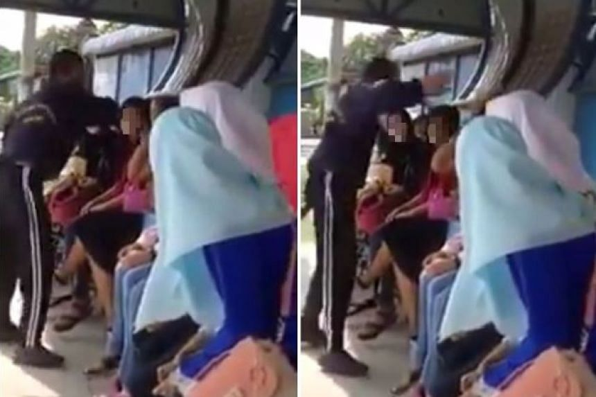 Footage of a man slapping a woman, allegedly for not wearing a headscarf, has gone viral on social media in Malaysia.