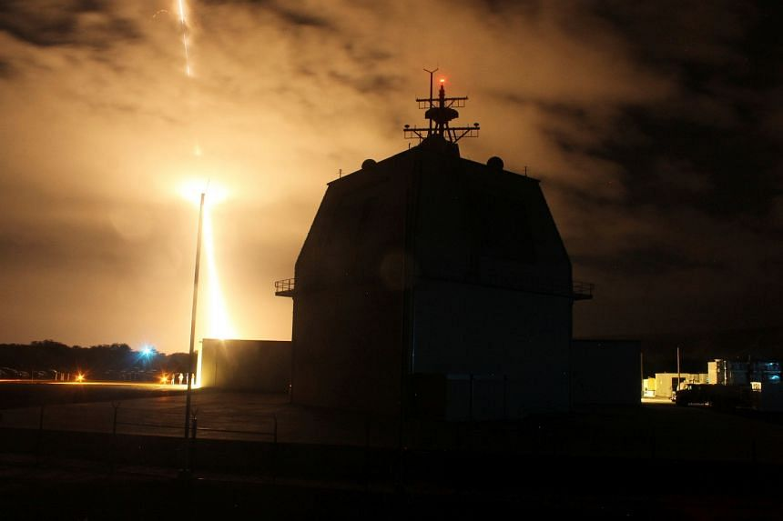 Testing of a land-based Aegis ballistic missile defence system at the Aegis Ashore Missile Defence Test Complex in Hawaii in 2015. Last month, Japan confirmed its purchase of two Aegis Ashore batteries from the US.