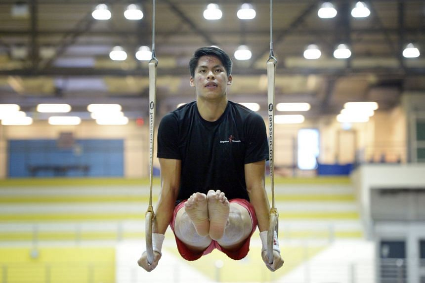 """Gymnast Lincoln Liqht Man said the arrangement allows him """"to go all out in training and competition""""."""