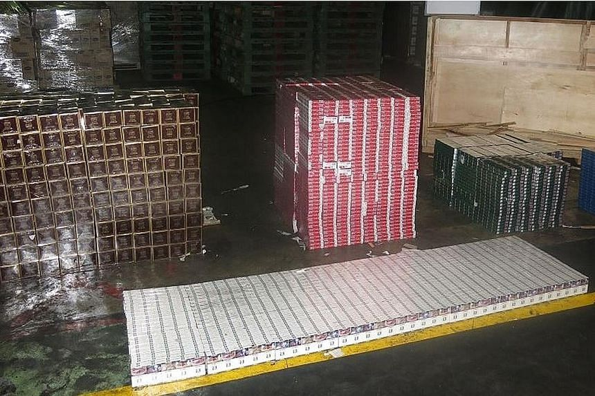 """Officers found 3,050 cartons of contraband cigarettes in a consignment declared as """"machinery parts and accessories""""."""