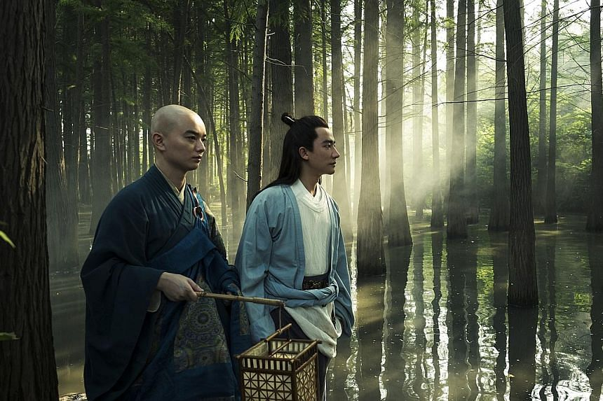 Shota Sometani (left) and Huang Xuan star in The Legend Of The Demon Cat.