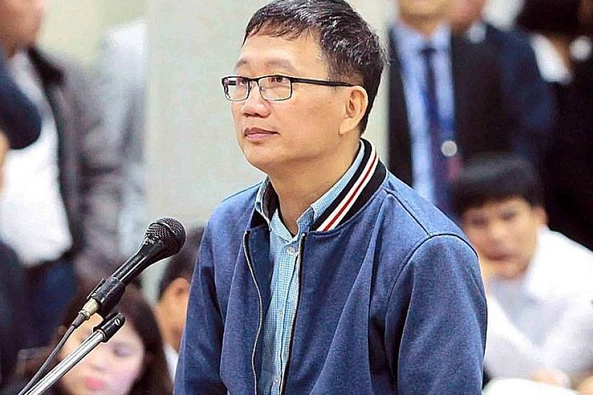 Trinh Xuan Thanh, the former head of PetroVietnam Construction, in court last week.