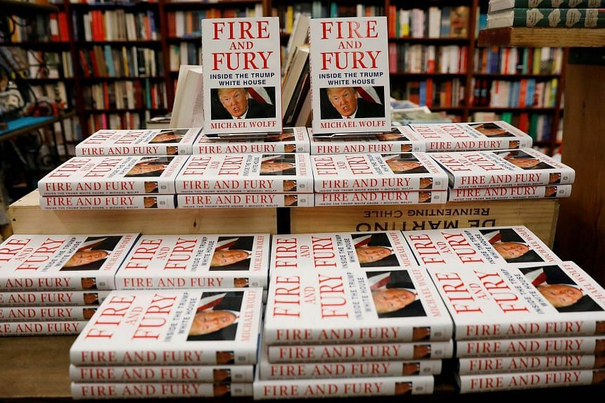 Copies of Fire And Fury: Inside The Trump White House on sale at the Book Culture bookstore in New York, on Jan 5.
