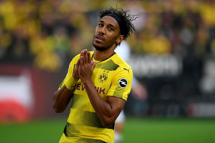 Aubameyang (above) has already scored 21 goals in 23 games this season.