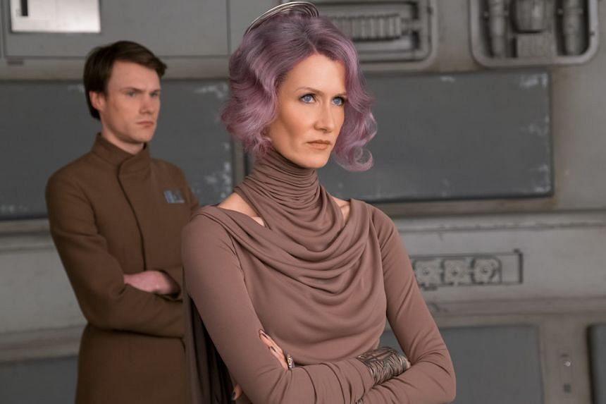 """Laura Dern's character, the """"unflinching vice-admiral in the lavender-tressed"""" Amilyn Holdo, was simply deleted."""