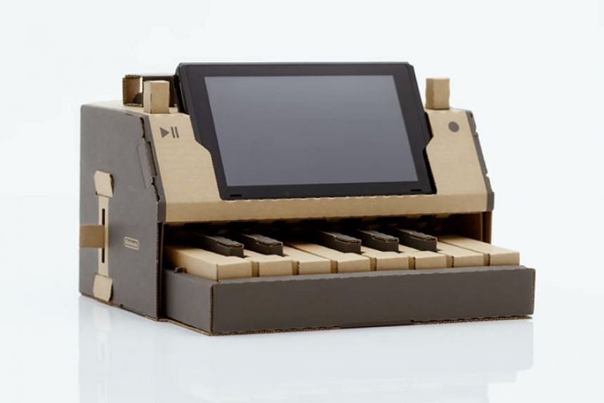 The Nintendo Labo is a range of pre-perforated cardboard sheets that users fold into holders for the Switch and its controllers.
