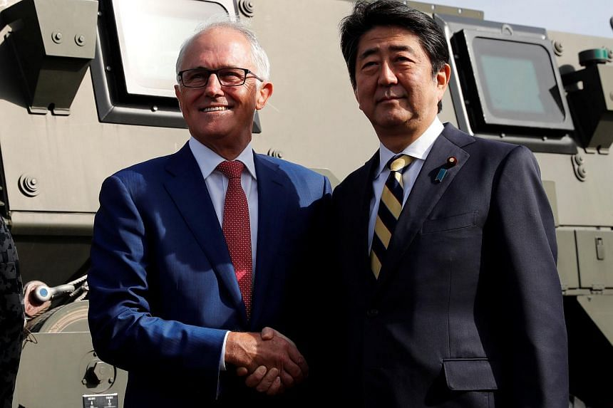 Australian Prime Minister Malcolm Turnbull and Japanese counterpart Shinzo Abe are hoping to thrash out a security agreement on joint defence operations and exercises.