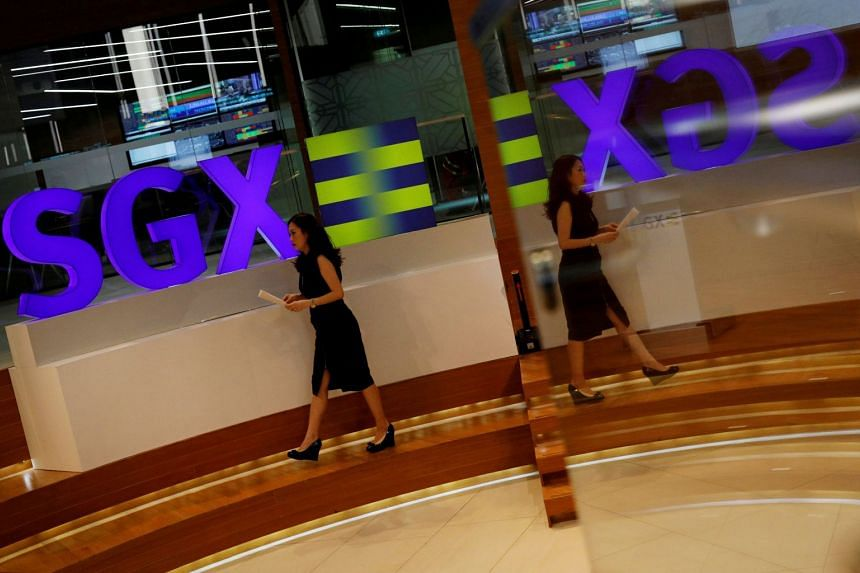 An SGX sign pictured at Singapore's stock exchange.