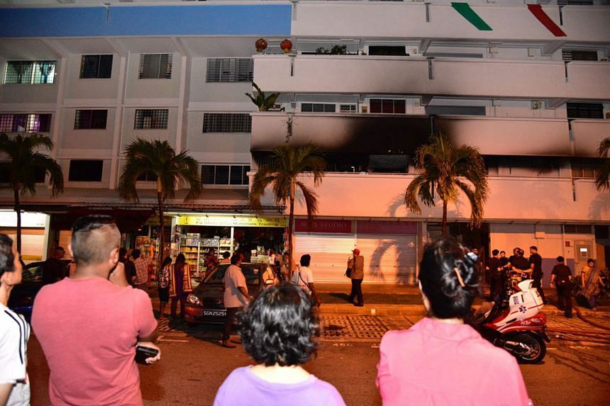 A total of 16 residents were evacuated by Singapore Civil Defence Force and police officers.