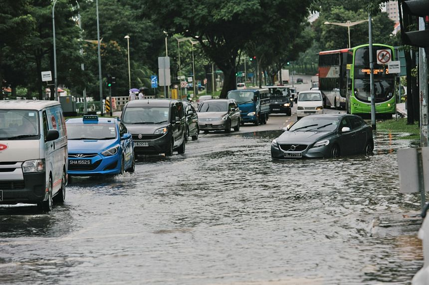 Flooding at the junction of Upper Changi and Bedok North Ave 4. On Jan 8, flash floods occurred in nine locations in eastern Singapore. In four hours, 118.8mm of rain was recorded at the Kim Chuan Road rain gauge. The amount is about half of Singapor