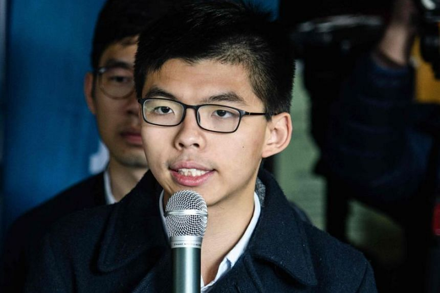 Joshua Wong had pleaded guilty to obstructing the clearance of a major protest encampment.