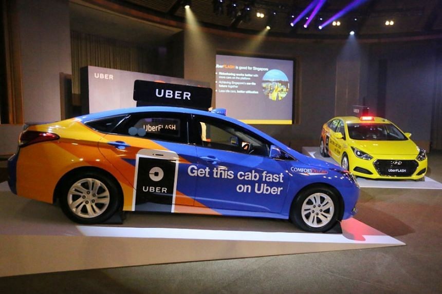 UberFlash promises faster rides by matching commuters with the nearest UberX private-hire car or ComfortDelGro taxi.