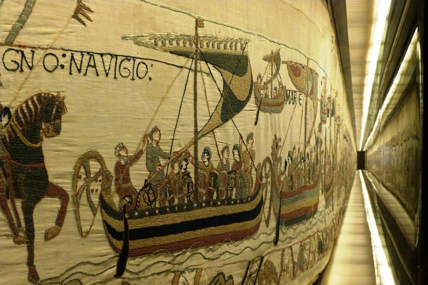 A view of the Bayeux Tapestry, an 11th century treasure that tells the tale of how William the Conqueror came to invade England in 1066.