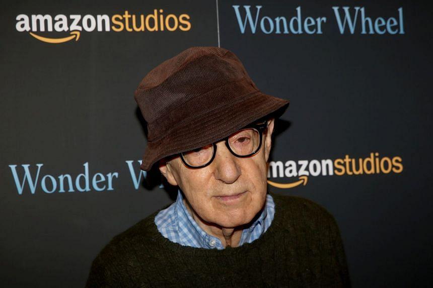 Director Woody Allen arrives for a screening of the film Wonder Wheel in New York, Nov 14, 2017.