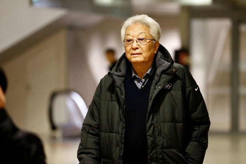 North Korea IOC member Chang Ung arrives in Geneva, Switzerland, Jan 18, 2018.
