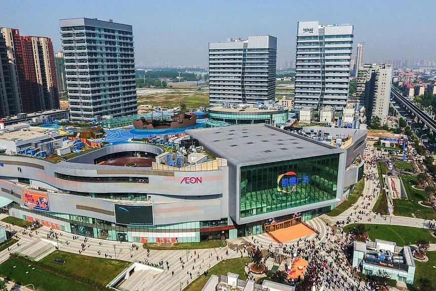CapitaLand opened six integrated developments in China last year, including CapitaMall Westgate in Wuhan.