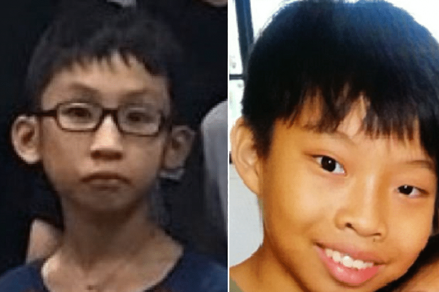 Javier (left) and Axel, both 11, went missing for more than a day before being found in Yishun.