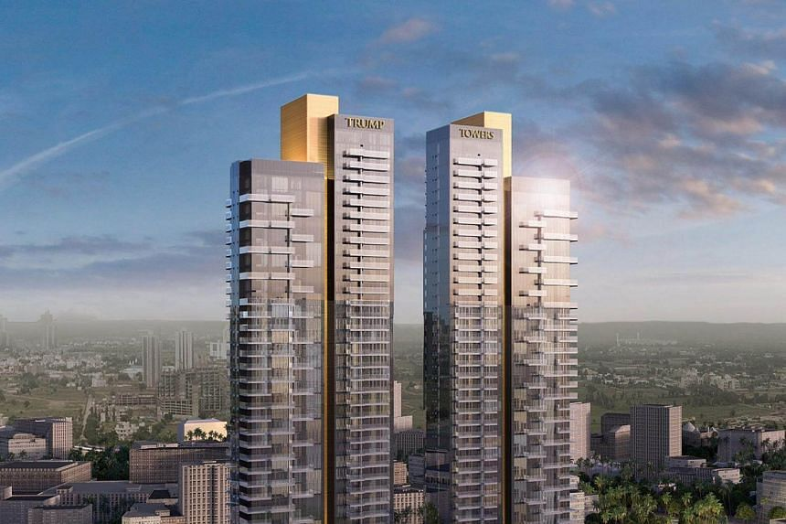 An artist's rendering of the Trump Towers project in Gurgaon, India.