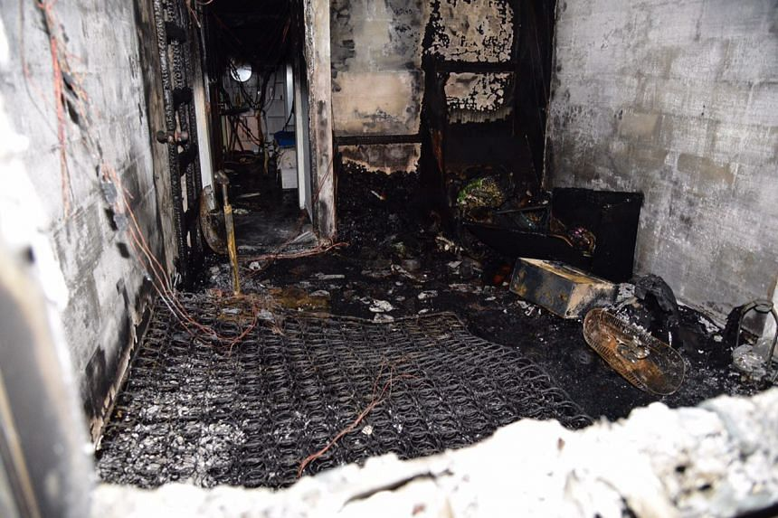 The fire involved contents of a bedroom from the affected unit.