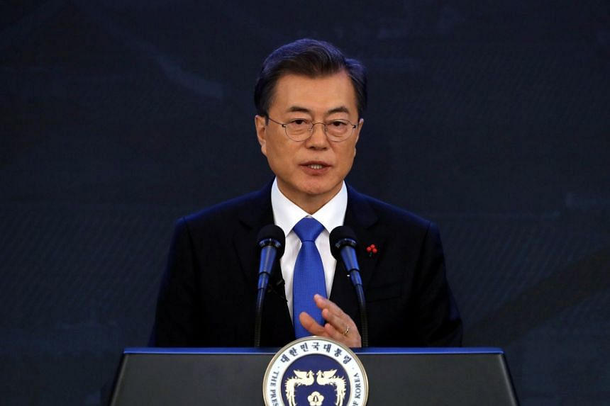 South Korean President Moon Jae In's approval rating has fallen to a four-month low, a poll showed on Jan 19, 2018.