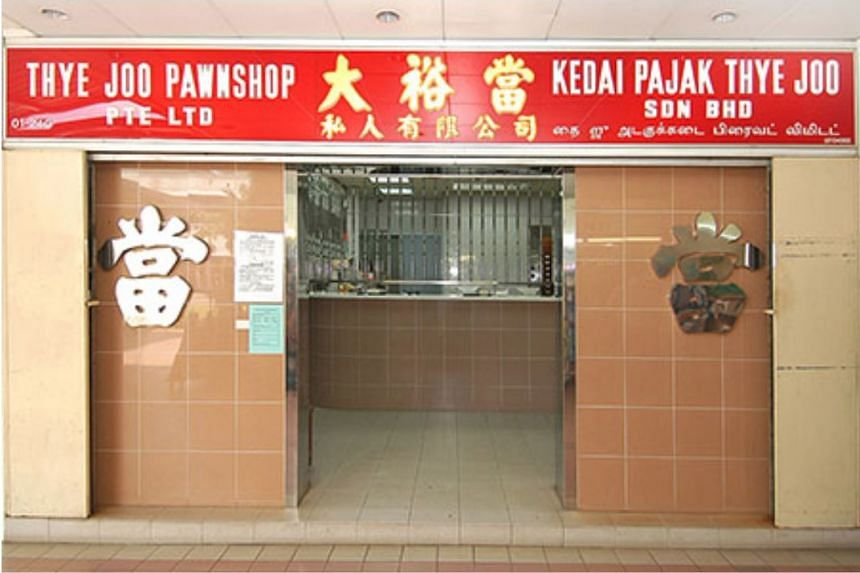 The man had pulled the stunt at Thye Joo Pawnshop in Choa Chu Kang Street 62, but was caught.