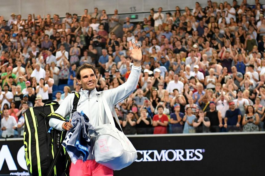 Rafael Nadal raced through the match in just 1hr 50min, wasting as little energy as possible in the 6-1, 6-3, 6-1 rout.