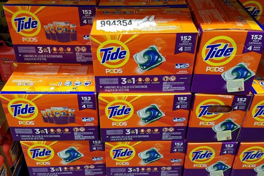 """The """"Tide pod challenge"""" involves people biting into the brightly-coloured pods and posting the videos on social media websites."""