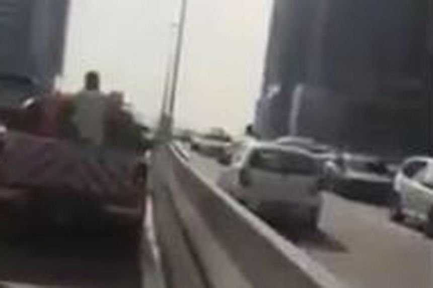 A white car was being driven against traffic flow on the New Pantai Expressway near Taman Dato Harun in Petaling Jaya city.