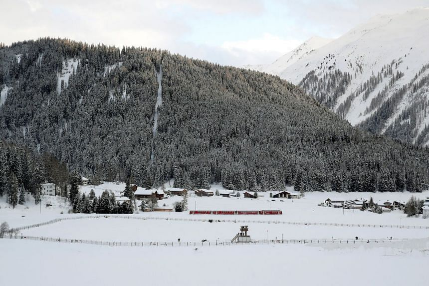 Fences surround the area of the heliport for the upcoming World Economic Forum in Davos, Switzerland, on Jan 18.