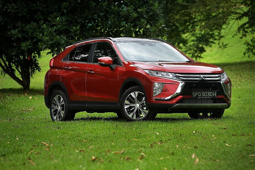 The Mitsubishi Eclipse Cross, which was unveiled at the Singapore Motorshow last week, is the first of its kind from the Japanese carmaker.