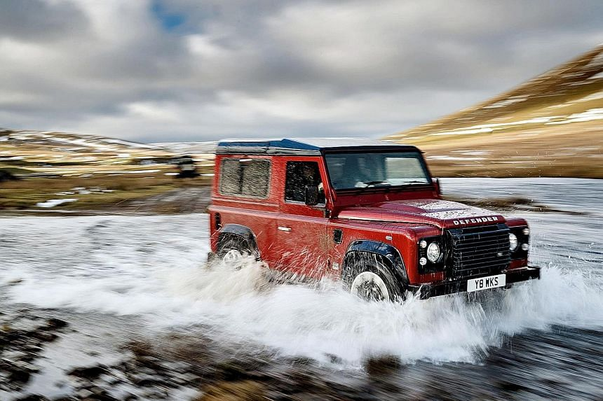 405-horsepower 5-litre V8 Defender