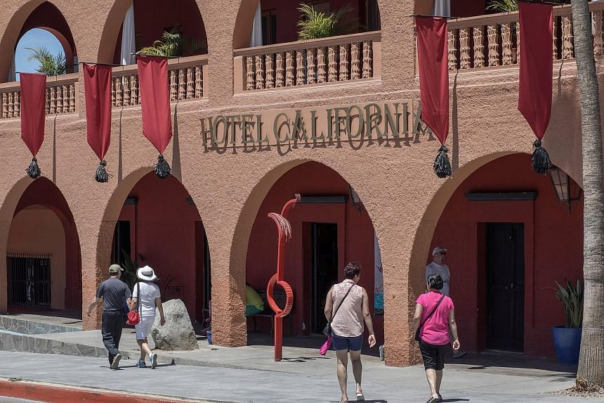 Hotel California Baja was accused of encouraging guests to believe that the Eagles had authorised its use of the song's name, such as by playing their songs throughout its property.