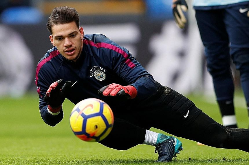 Manchester City goalkeeper Ederson will be looking to bounce back swiftly from last week's defeat at Liverpool, the leaders' only English Premier League loss all season.