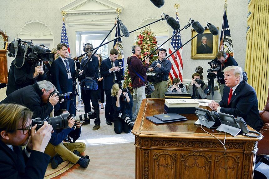 President Donald Trump has had a hostile relationship with the media, frequently attacking it and other pillars of the US system including the Department of Justice and the courts.