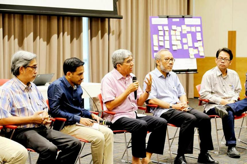 Minister-in-charge of Muslim Affairs Dr Yaacob Ibrahim speaking at a dialogue on the religious life of the Singapore Muslim community, held at the Lifelong Learning Institute in Paya Lebar on Jan 20.