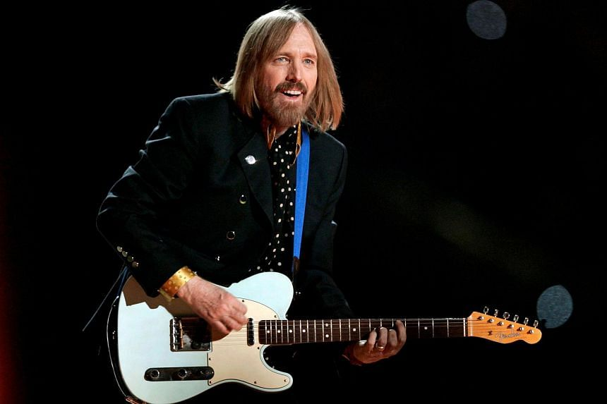 Tom Petty performing during the half time show of the NFL's Super Bowl XLII football game, on Feb 3, 2008.