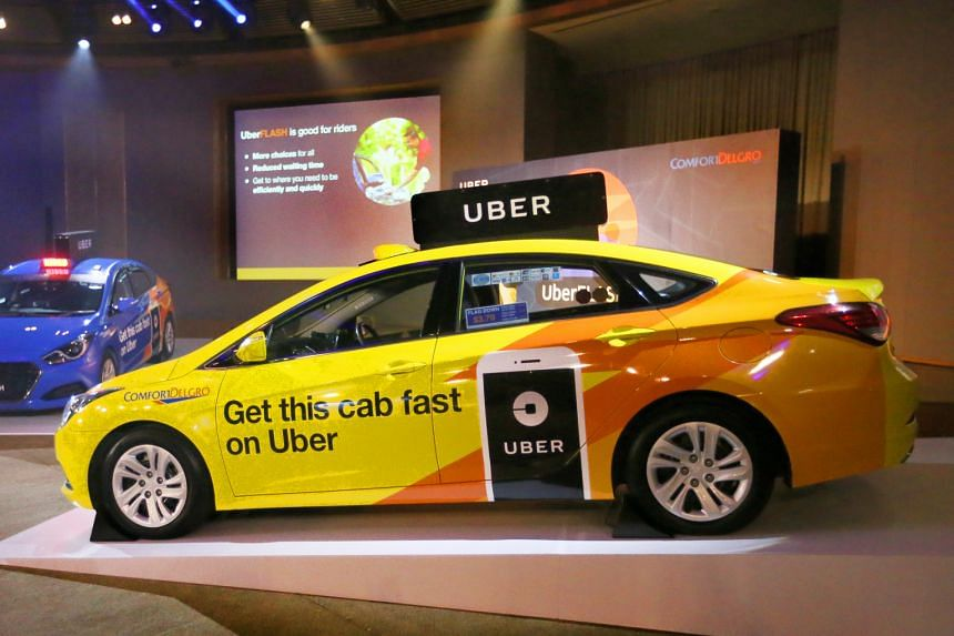 UberFlash, a new service available on the Uber app, pools Uber's private-hire cars and taxis from ComfortDelGro. Commuters are matched with the nearest ride.