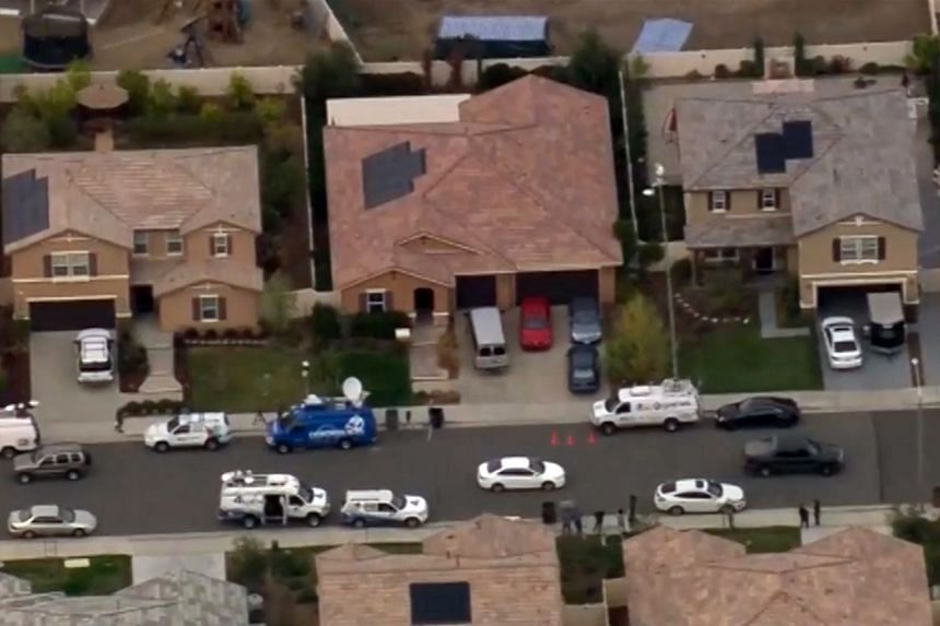 The California house (middle) where the Turpins allegedly held their 13 children captive. The victims were severely malnourished and suffered from stunted growth, said the prosecutor.