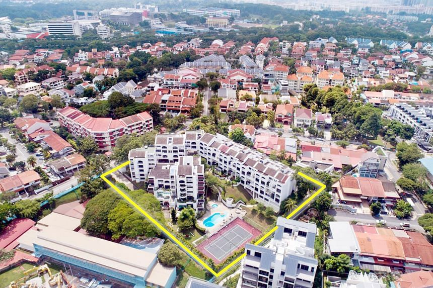 The 90,863 sq ft site in Upper Bukit Timah has a gross plot ratio of 1.4. Owners of units at Kismis View could receive gross sale proceeds of between $1.6 million and $3.3 million, said marketing agent JLL.