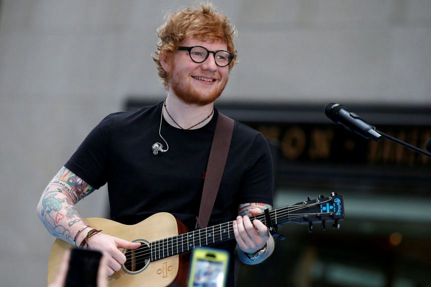 Sheeran (above) and fiancee Cherry Seaborn are childhood friends and have reportedly been dating since 2015.