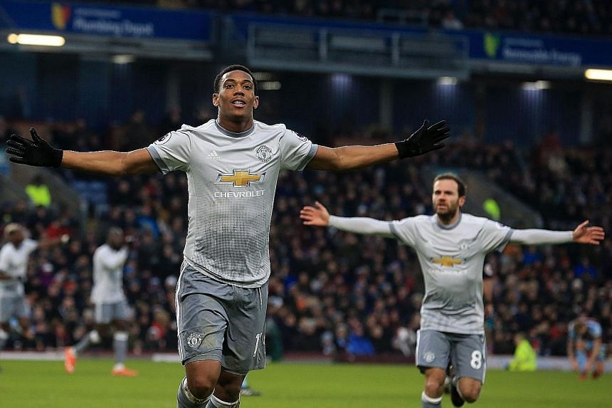 Manchester United forward Anthony Martial proved to be the match-winner for his team in their 1-0 win over Burnley at Turf Moor yesterday. The Frenchman struck in the 54th minute, the third straight Premier League game he has scored, to hand United t