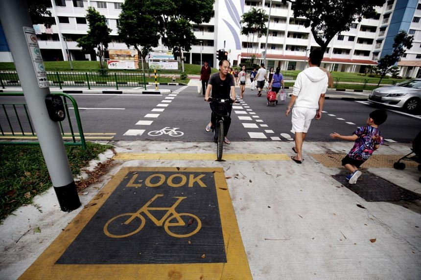 The first 5km of the network was completed in December last year and included paths along stretches of New Upper Changi Road, Bedok North Avenue 3 and Sims Avenue East.
