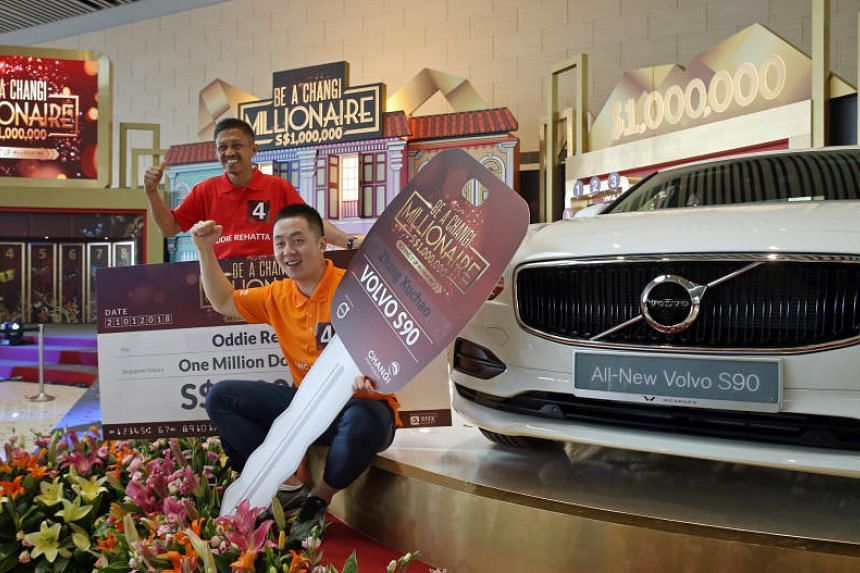 Mr Oddie Rehatta took home the $1 million cash prize on Jan 21, 2018, while Chinese baseball coach Zhang Xuchao won a new Volvo S90 T5.