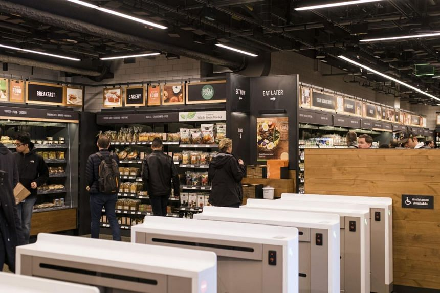 The store in Seattle, known as Amazon Go, relies on cameras and sensors to track what shoppers remove from the shelves, and what they put back.
