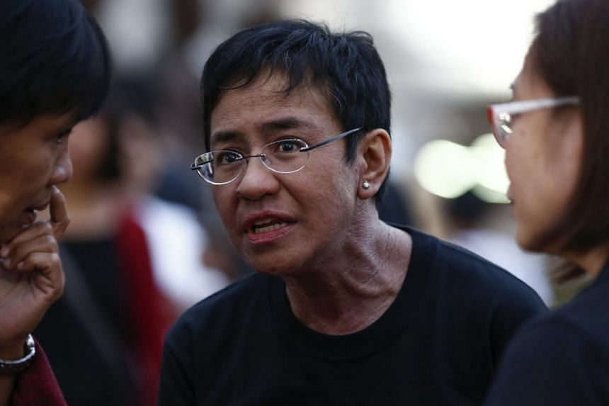 Maria Ressa, CEO of online media website Rappler, arrives to join a demonstration calling for press freedom in Quezon City, east of Manila, Philippines, on Jan 19, 2018.