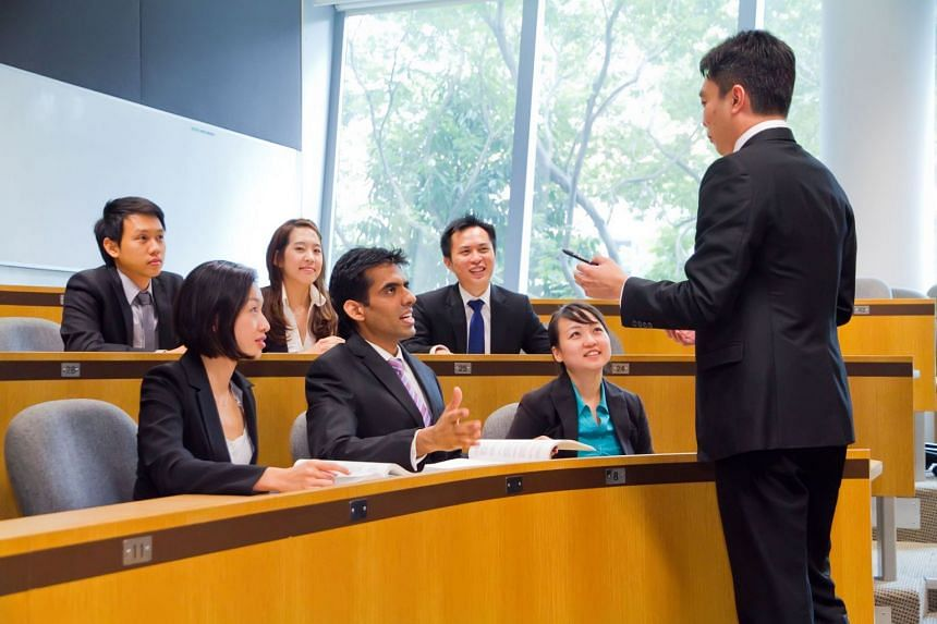 Classes in SMU's postgraduate programmes are held in small seminar-style classrooms, encouraging greater interaction between students and with the course material. PHOTO: SINGAPORE MANAGEMENT UNIVERSITY