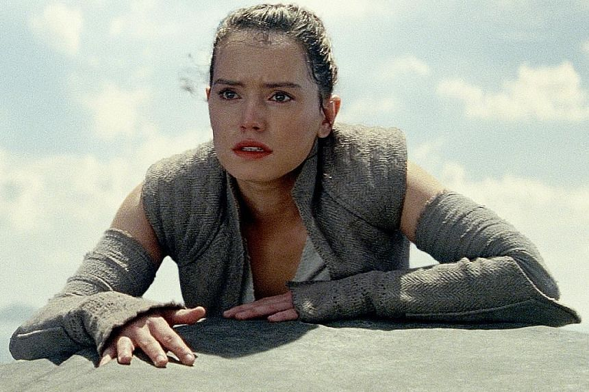 Britain's live entertainment sector registered a record $31 billion in revenue last year, thanks in part to Star Wars: The Last Jedi, starring Daisy Ridley (left).
