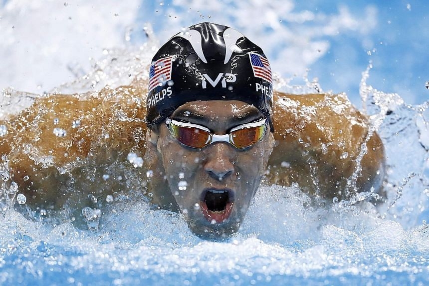 Michael Phelps in action at the Rio Games. The most decorated Olympian of all time with 28 medals, the 32-year-old American wants to raise awareness about mental health issues, given his long-standing battle with depression.