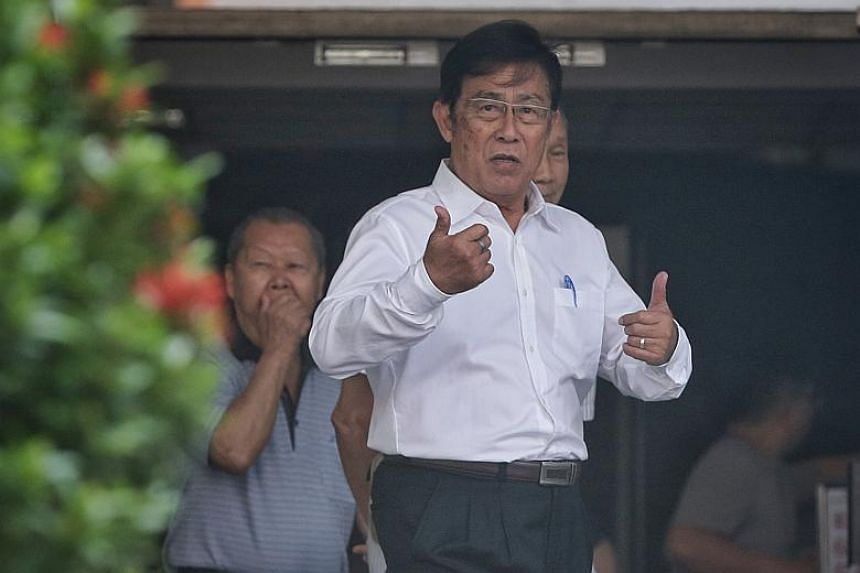 Loh Siang Piow, 73, better known as Loh Chan Pew, reported to the State Courts on the first day of a five-day trial on Jan 22, 2018. The veteran athletics coach was accused of molesting two teenagers.