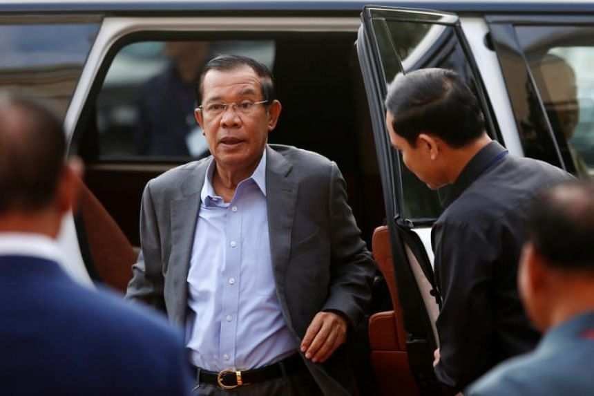 Cambodia's Prime Minister Hun Sen arrives to attend the Cambodian People's Party congress in Phnom Penh on Jan 19, 2018.